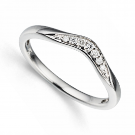 9ct White Gold Diamond Pride & Joy Ring