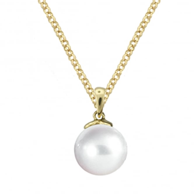 Amore 9ct Yellow Gold Freshwater Pearl Necklace