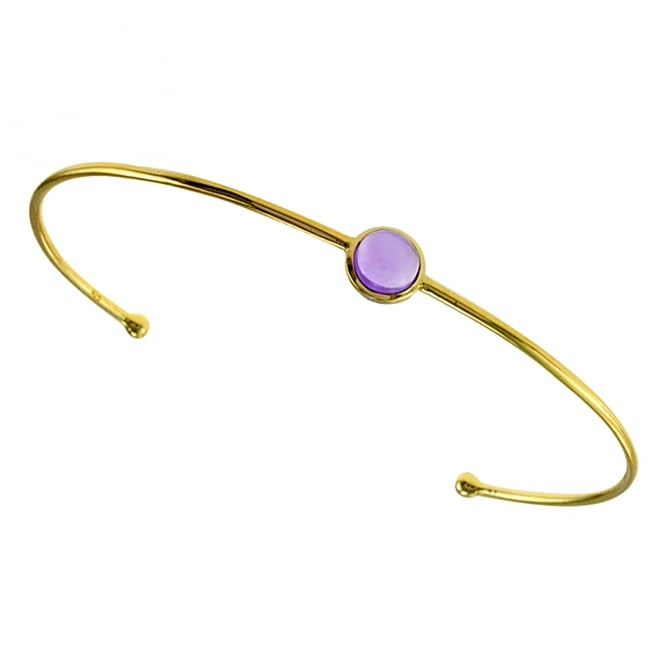 Amore 9ct Yellow Gold Prune Zest Amethyst Bangle