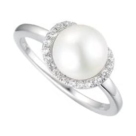 Sterling Silver Moonlight Pearl Ring