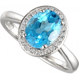Sterling Silver Regal Blue Ring