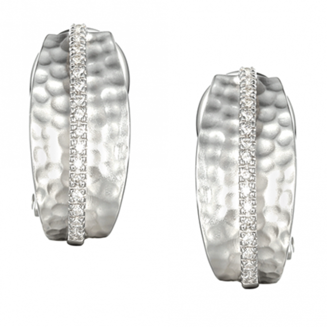 Amore Silver Wembley Arch Stud Earrings