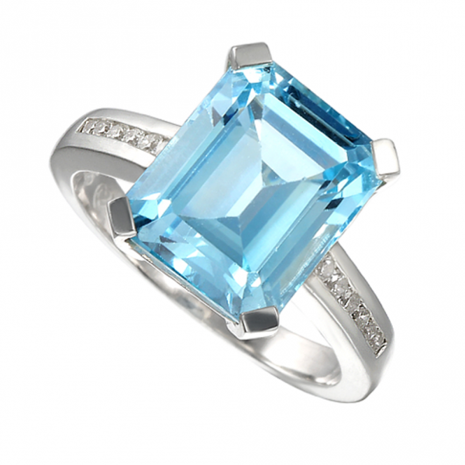Amore Sterling Silver Blue Lagoon Ring