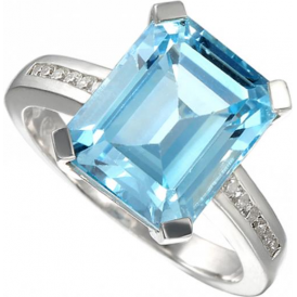 Sterling Silver Blue Lagoon Ring