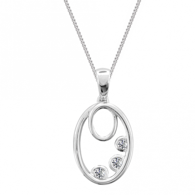 Amore Sterling Silver Forever Necklace