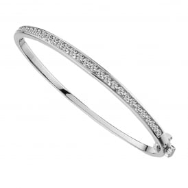 Sterling Silver Icicle Bangle