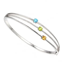 Sterling Silver Kaleidoscope Bangle