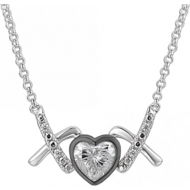Sterling Silver Love & Kisses Naughty Necklace