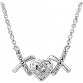 Sterling Silver Love & Kisses 'Nice' Necklace