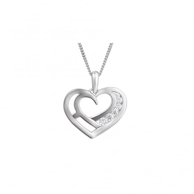 Amore Sterling Silver Love You Necklace