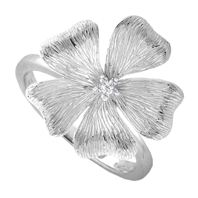 Amore Sterling Silver Primrose Ring