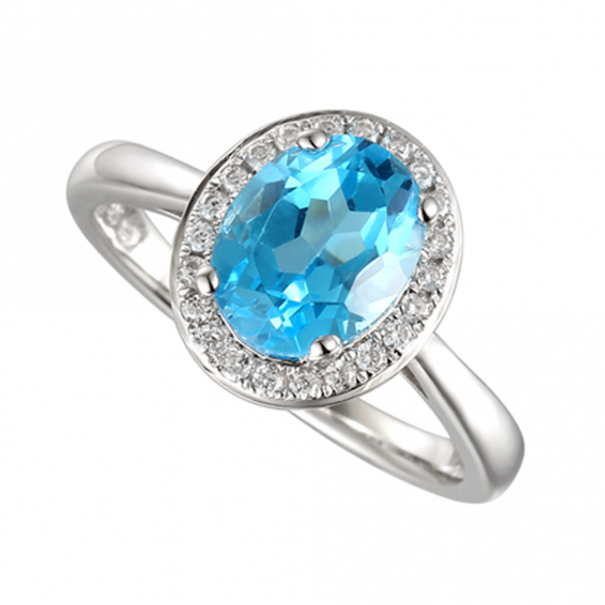 Amore Sterling Silver Regal Blue Ring