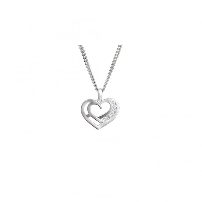 Amore Sterling Silver Small Love You Necklace