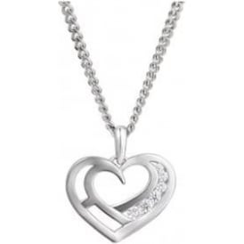 Sterling Silver Small Love You Necklace