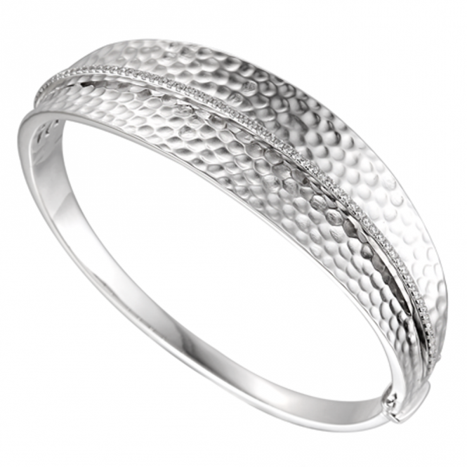 Amore Sterling Silver Wembley Arch Bangle