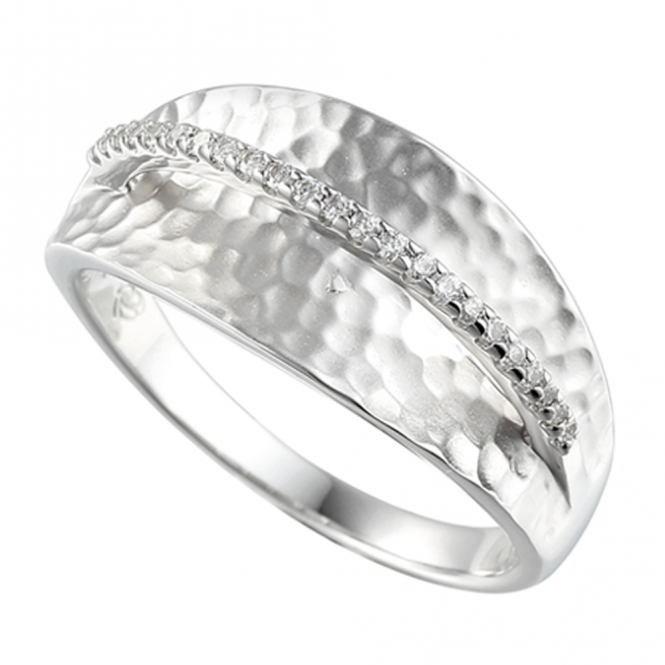 Amore Sterling Silver Wembley Ring