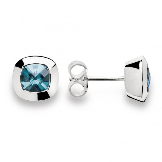 Bastian Inverun Silver And Blue Topaz Round Stud Earrings