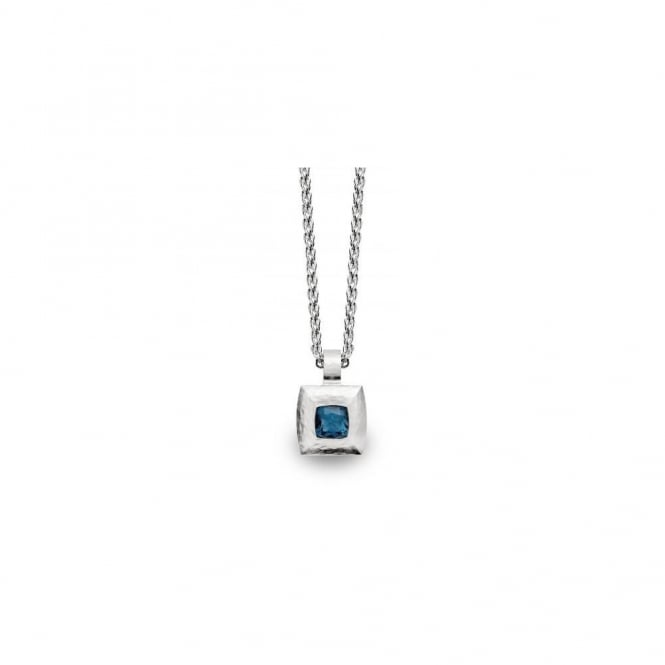 Bastian Inverun Sterling Silver And Blue Topaz Cushion Necklace