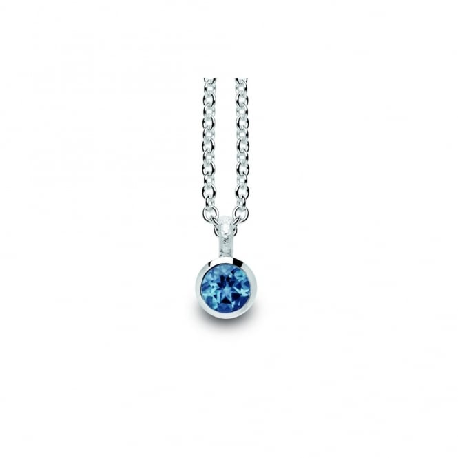 Bastian Inverun Sterling Silver And Blue Topaz Necklace