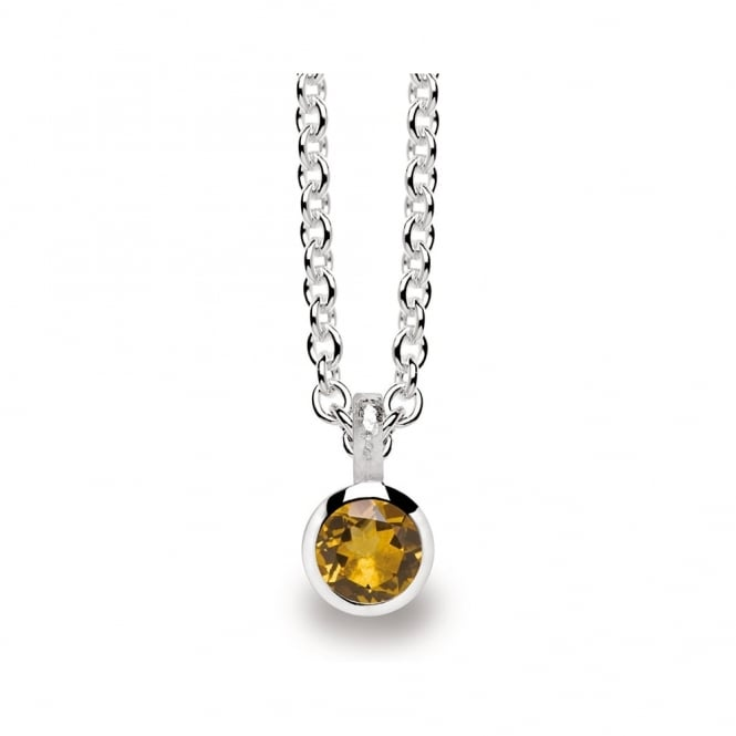 Bastian Inverun Sterling Silver And Citrine Drop Necklace