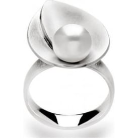 Sterling Silver And Cultured Pearl Ring