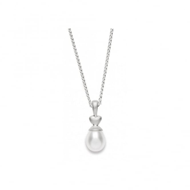 Bastian Inverun Sterling Silver And Pearl Drop Necklace