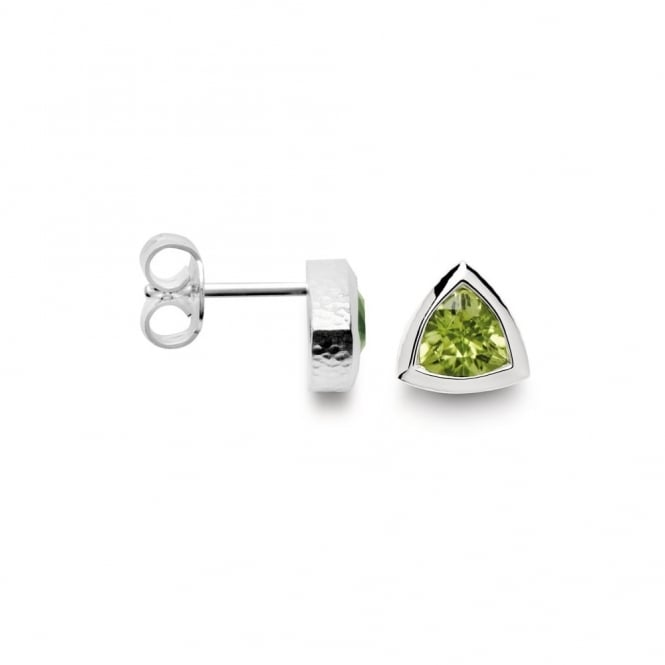 Bastian Inverun Sterling Silver And Peridot Stud Earrings