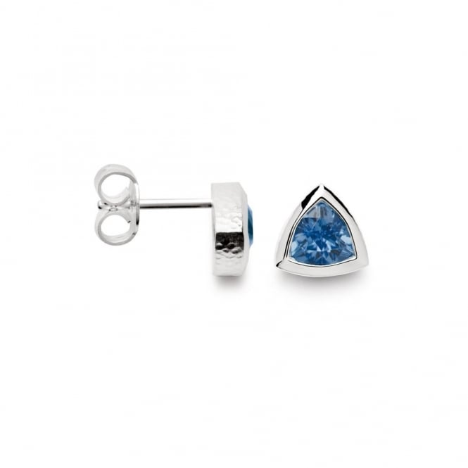 Bastian Inverun Sterling Silver Blue Topaz Stud Earrings