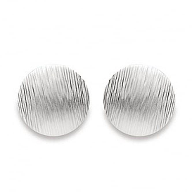 Bastian Inverun Sterling Silver Round Brushed Stud Earrings