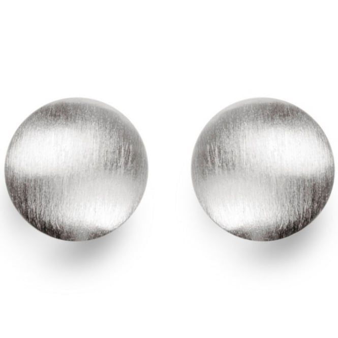 Bastian Inverun Sterling Silver Round Satin Finish Stud Earrings