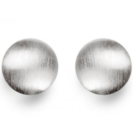 Sterling Silver Round Satin Finish Stud Earrings