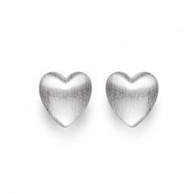 Bastian Inverun Sterling Silver Satin Heart Stud Earrings