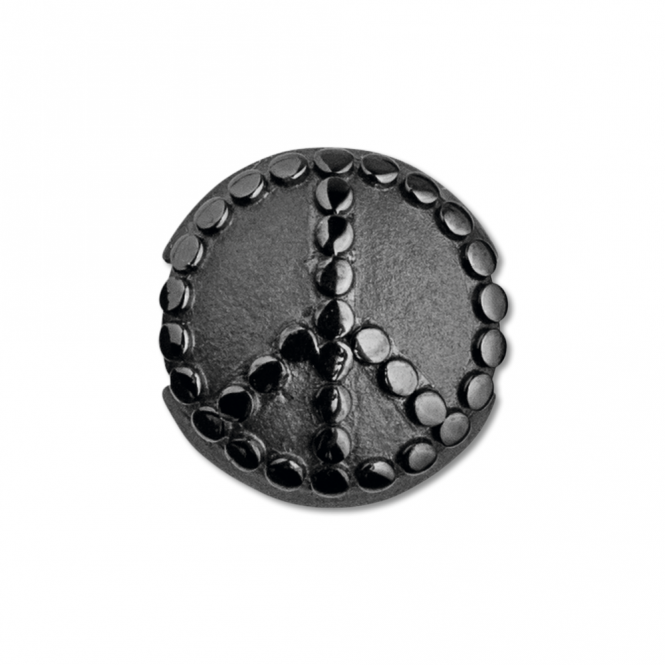 ByBiehl Black Rhodium Plated Peace Pod Charm