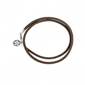 Brown Leather Bracelet With Sterling Silver Clasp