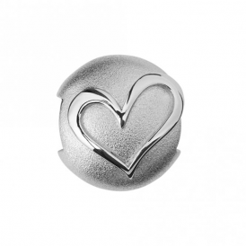 Sterling Silver Lucky Heart Pod Charm