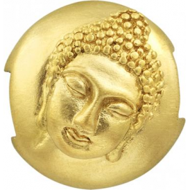 Sterling Silver & Yellow Gold Plated Buddha Pod Charm