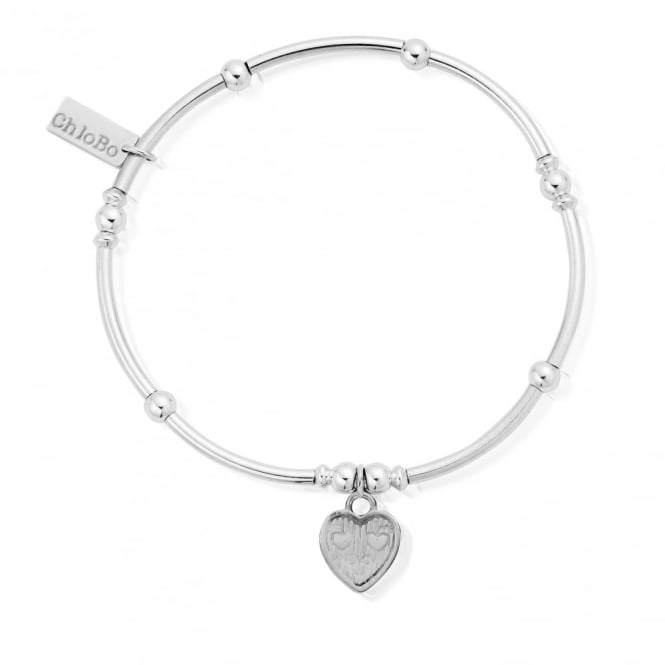 ChloBo Cute Mini Noode Ball Tri-Heart Bracelet