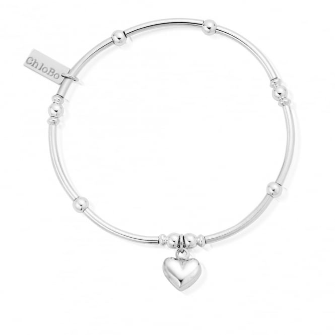 ChloBo Cute Mini Noodle Ball Puffed Heart Bracelet