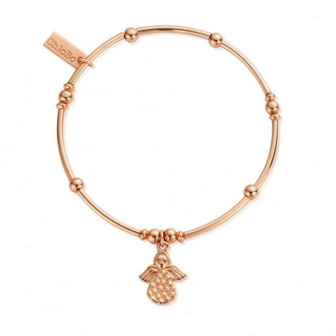 ChloBo Cute Rose Gold Mini Noodle Ball Angel Bracelet