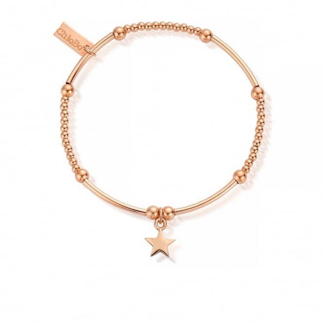 ChloBo Cute Rose Gold Mini Star Bracelet