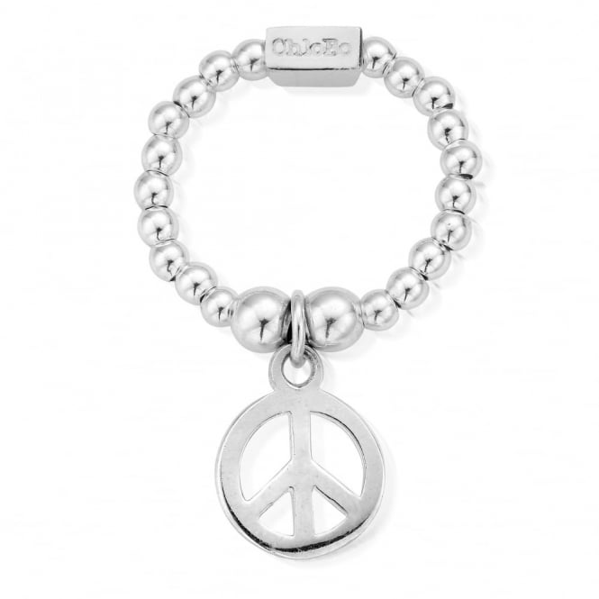 ChloBo Cute Silver Mini Peace Ring