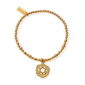 Gold Plated on Sterling Silver Crown Chakra Bracelet