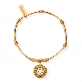Gold Plated on Sterling Silver Heart Chakra Bracelet
