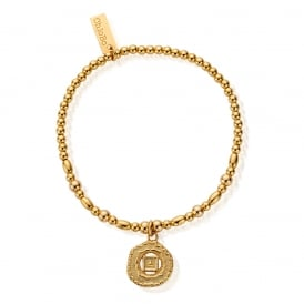 Gold Plated on Sterling Silver Root Chakra Bracelet