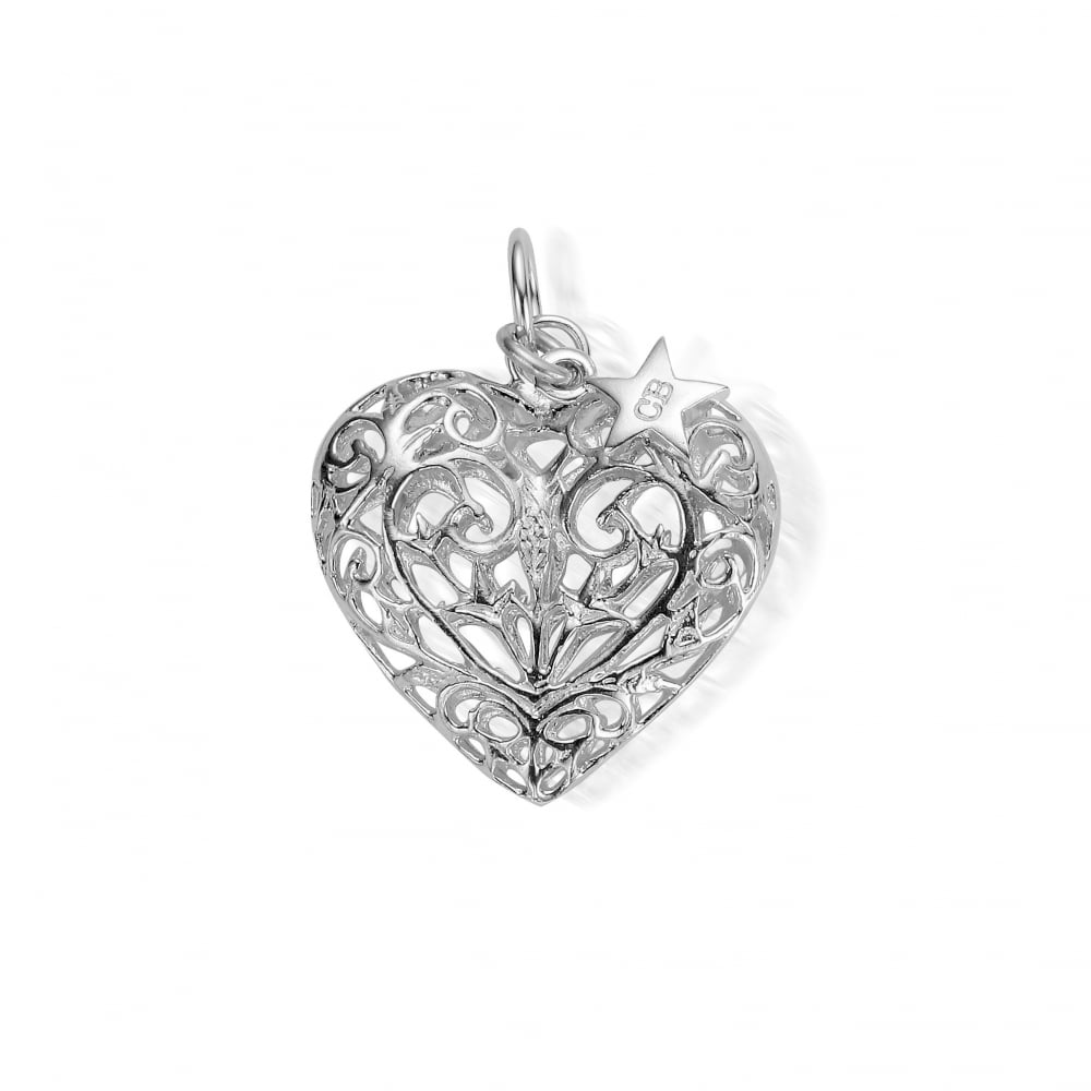 Iconics large silver filigree heart pendant aloadofball Gallery