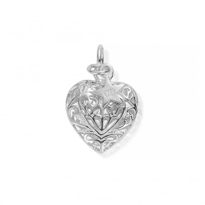 ChloBo Iconics Medium Silver Filigree Heart Pendant