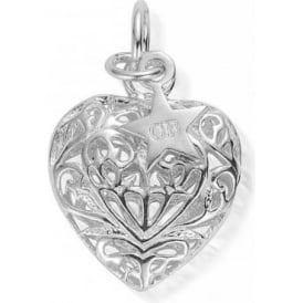 Iconics Medium Silver Filigree Heart Pendant