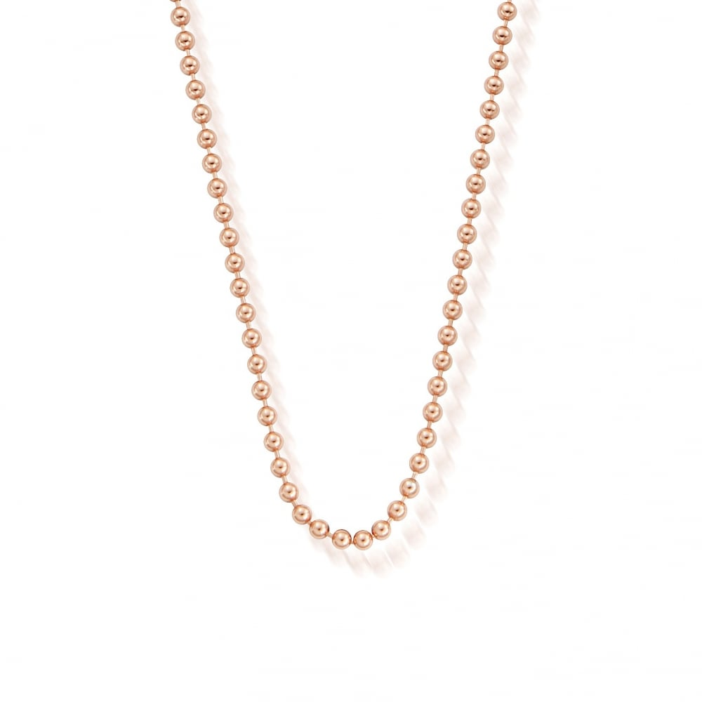 Iconics Rose Gold Ball Chain Necklace