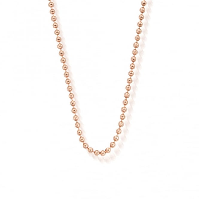 ChloBo Iconics Rose Gold Ball Chain Necklace