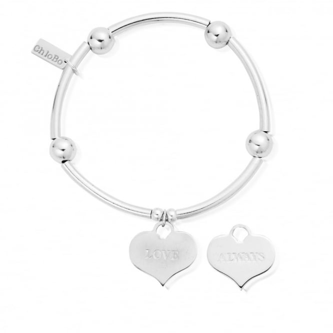 ChloBo Iconics Silver Noodle Ball Love Always Bracelet